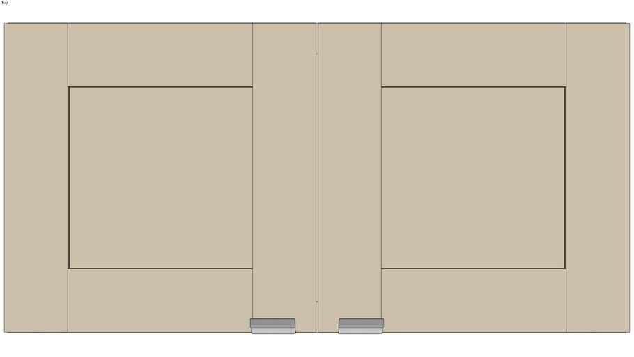 Wall Double Door 15Hx15D