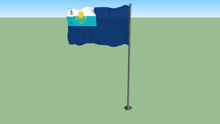 Government ensign of Kazakhstan