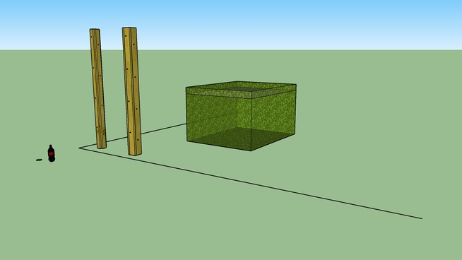 Footing / Pier  column - concrete and wood