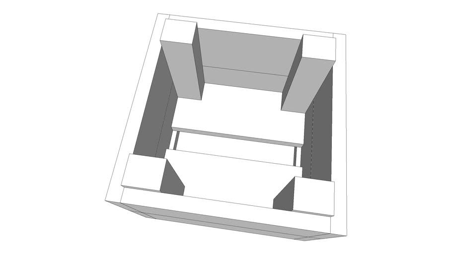 Jardinière carrée