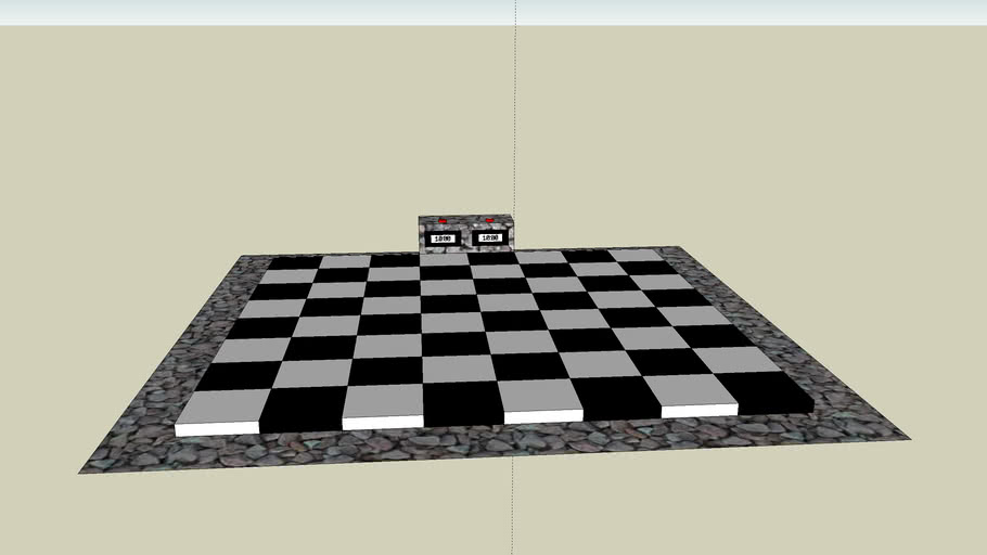 Outdoor chessboard with timer