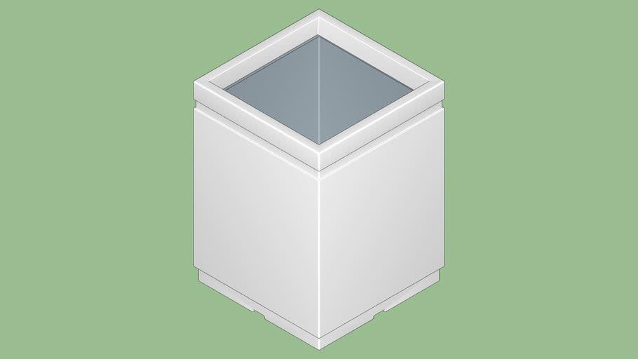 Pot carré HORIZON grande taille 80 cm _Poétic