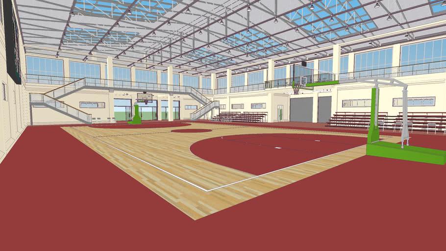 学校ジム Basketball / Multi Purpose Gym Building - Extreme High Detail Ver. 2