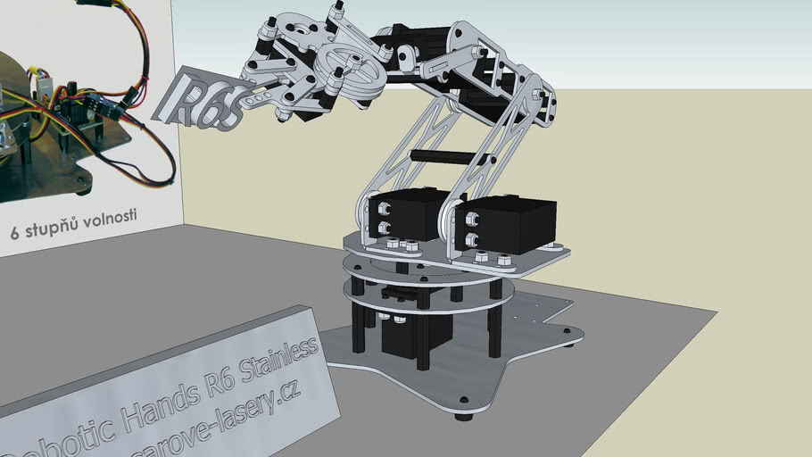 Robotic Arm stainless steel - R6Stainless