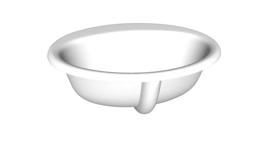 "K-2905-4 Farmington(R) Drop-in bathroom sink with 4"" centerset faucet holes"
