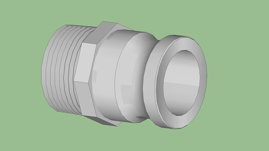 """Industrial Series - Fittings - Type F Camlock - Male Camlock / Male NPT - Size 2"""""""
