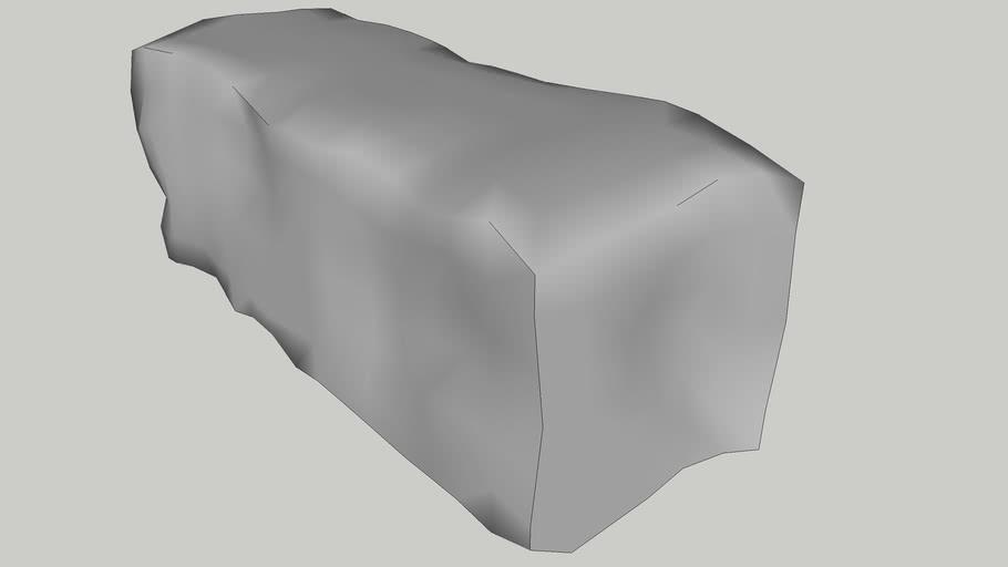 rectangular rock