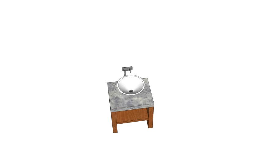 lavabo de salle de bain avec meuble