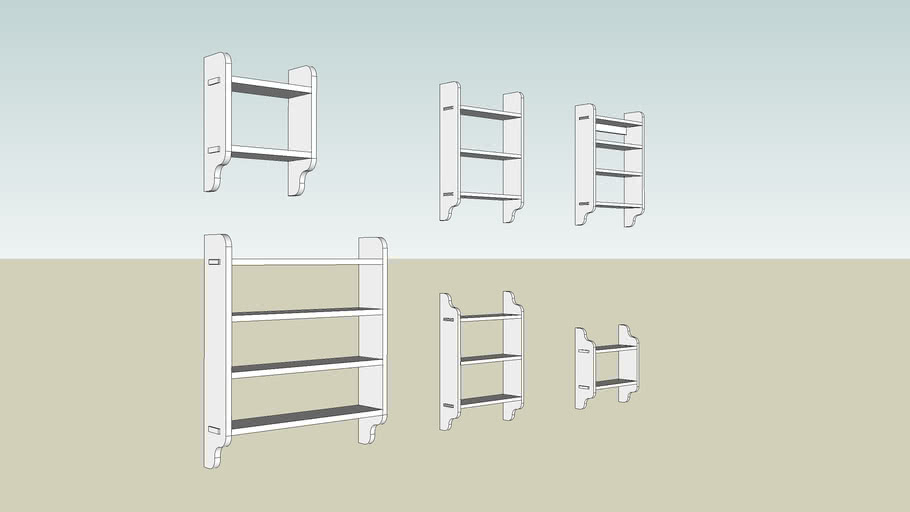 Hanging Shelves from Woodworking Magazine Issue 12