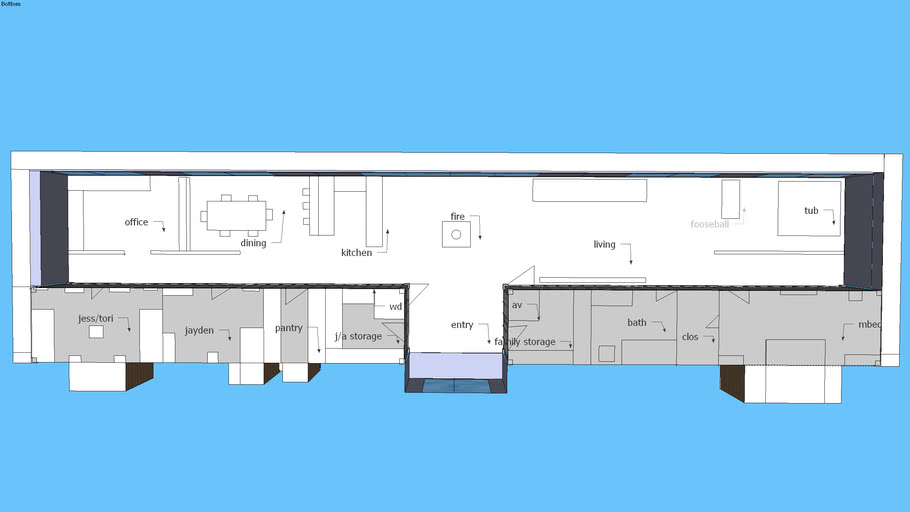 Earthship Style Shipping Container House Floor Plan 3d Warehouse