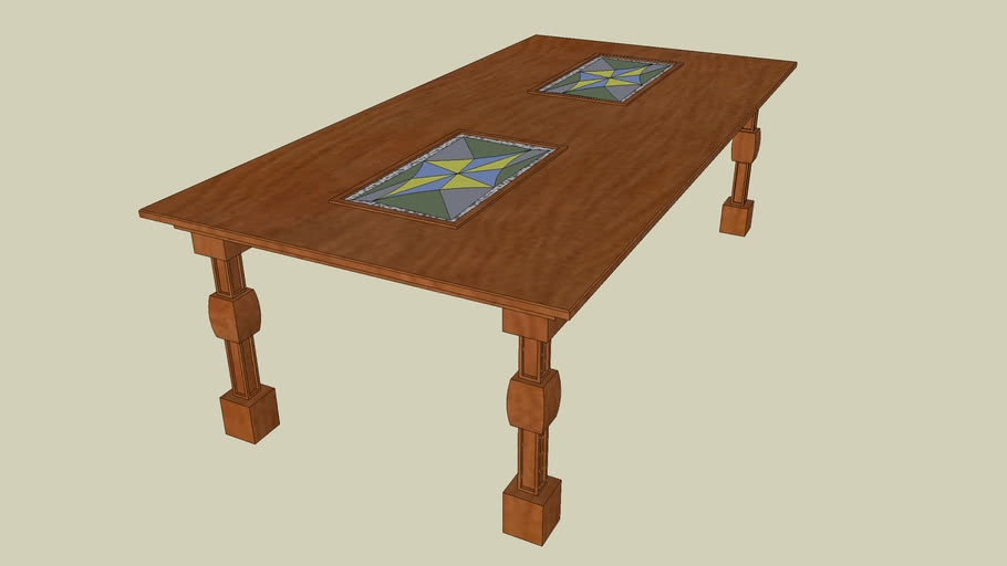 Simple Traditional Dining Table