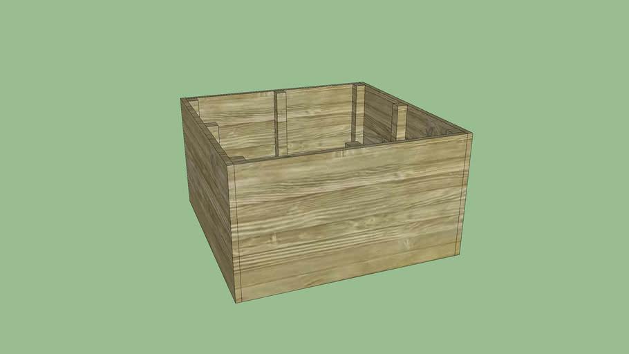 90cm x 90cm Raised Garden Bed