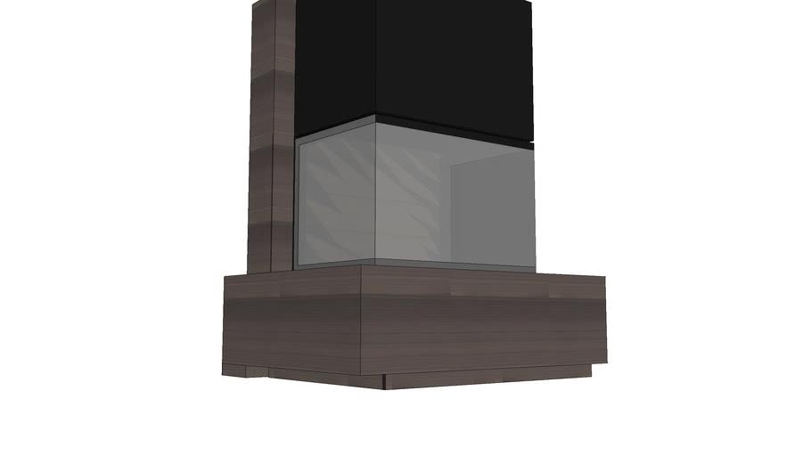 cheminée 3 faces