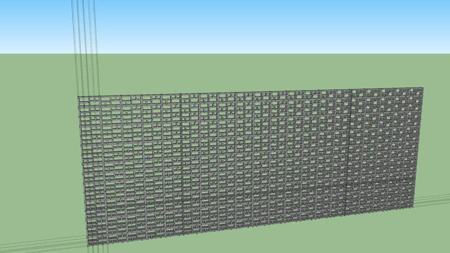 pared concreto perforada