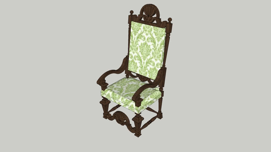 William and Mary High Back Armchair