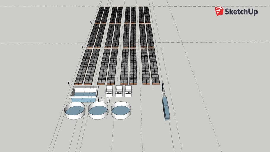 Aquaponic 3200m2 32mx100m