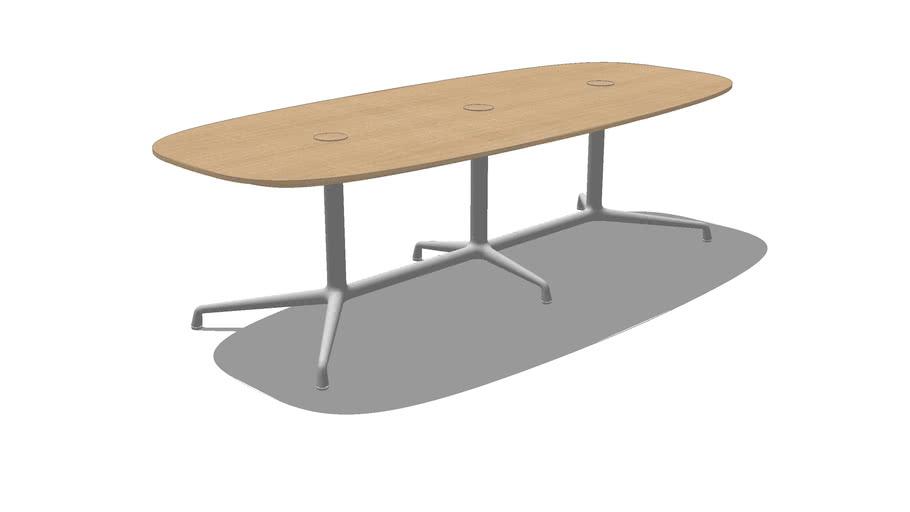 Coalesse, SW_1, Low Conference Table, Super Elliptical, Veneer, 96