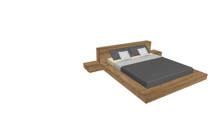 FL740+800, Flow Bed 180x200cm with Nightstands