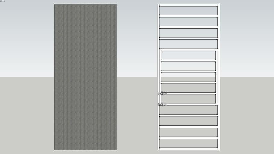 Puerta Reforzada con bastidor cada 15 cm