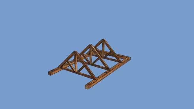Estructura de vigas para tejados medievales