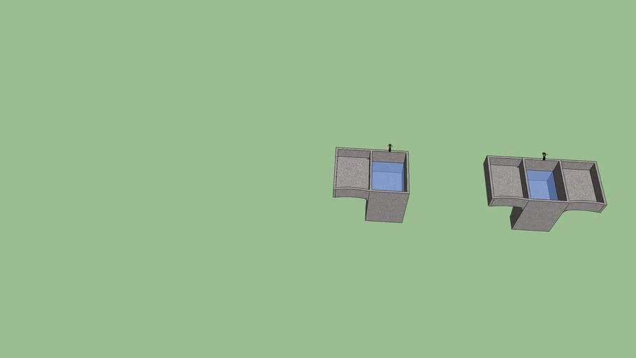 Pila de 1 y 2 lavaderos      Hecho por SALMARR