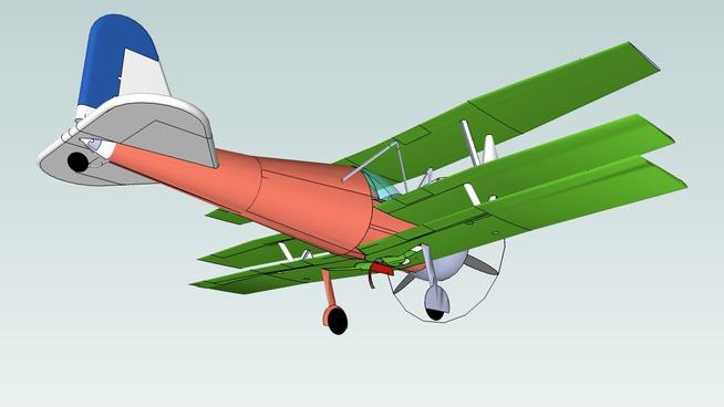 Triplane with retractable gear