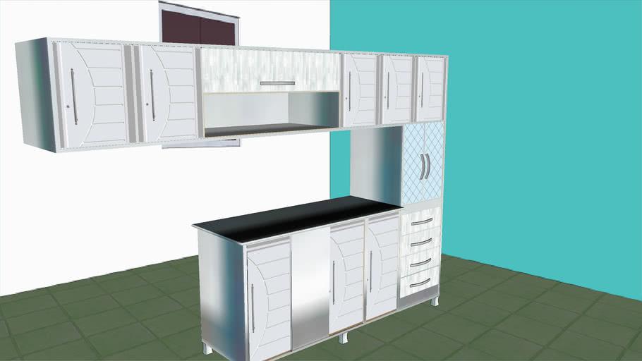 armario de cozinha em aço