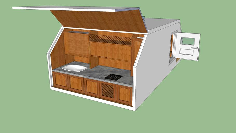 Teardrop trailer cabine