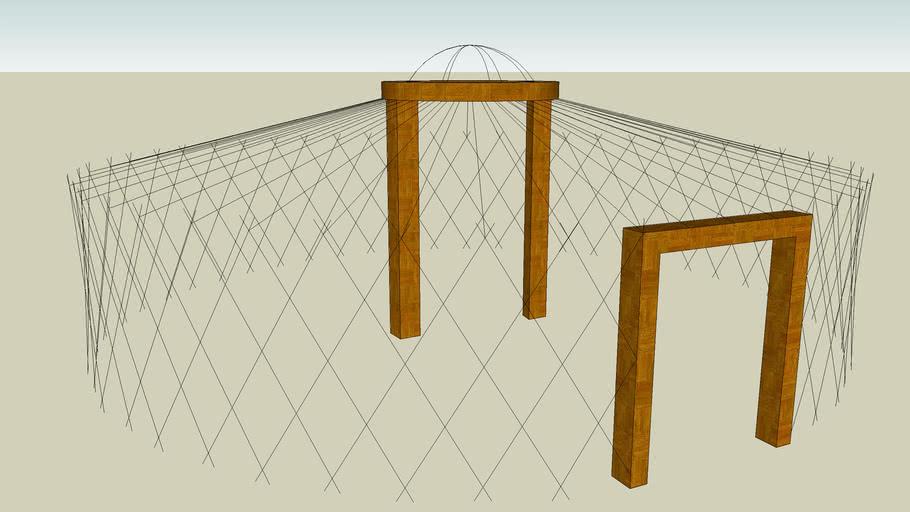 Structure pour yourte