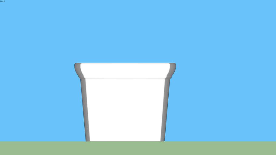 Pot carré AZUR grande taille pour plante 100cm _Poétic