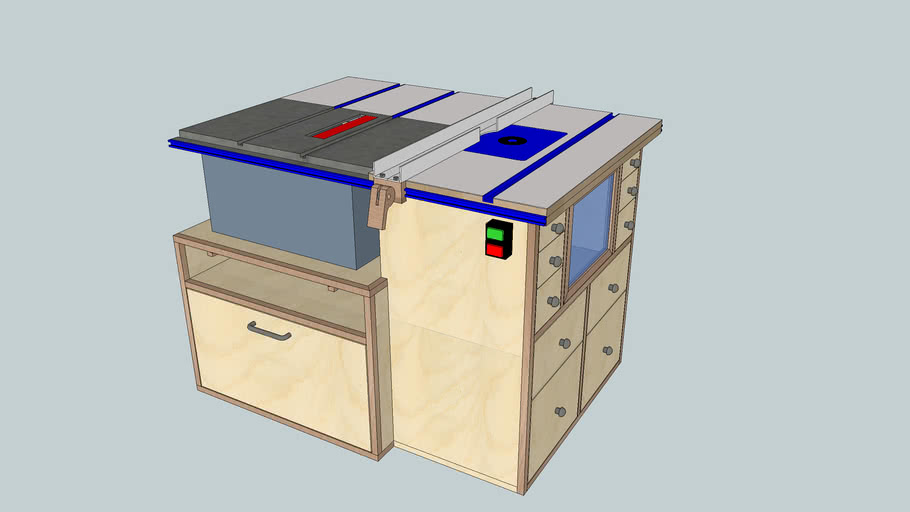 Table Saw & Router Table Station