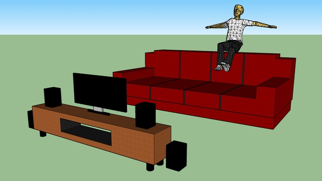 guy falling off couch