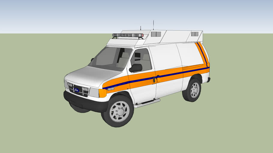 ambulance ford f350 econoline super duty  mod 2007