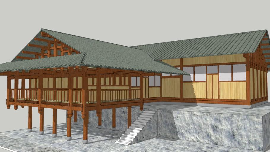 吊脚楼模型