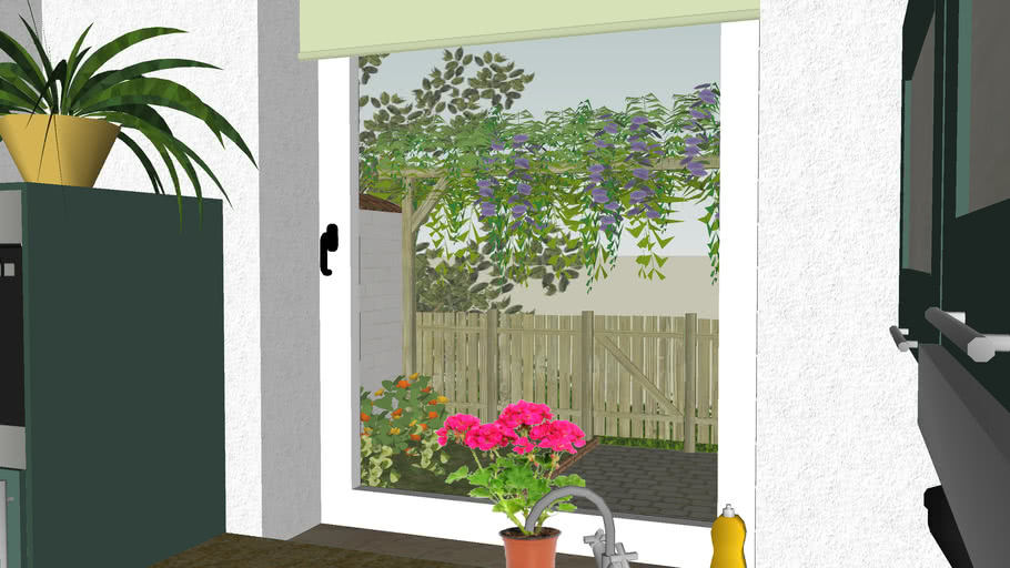 Single apartment with garden view