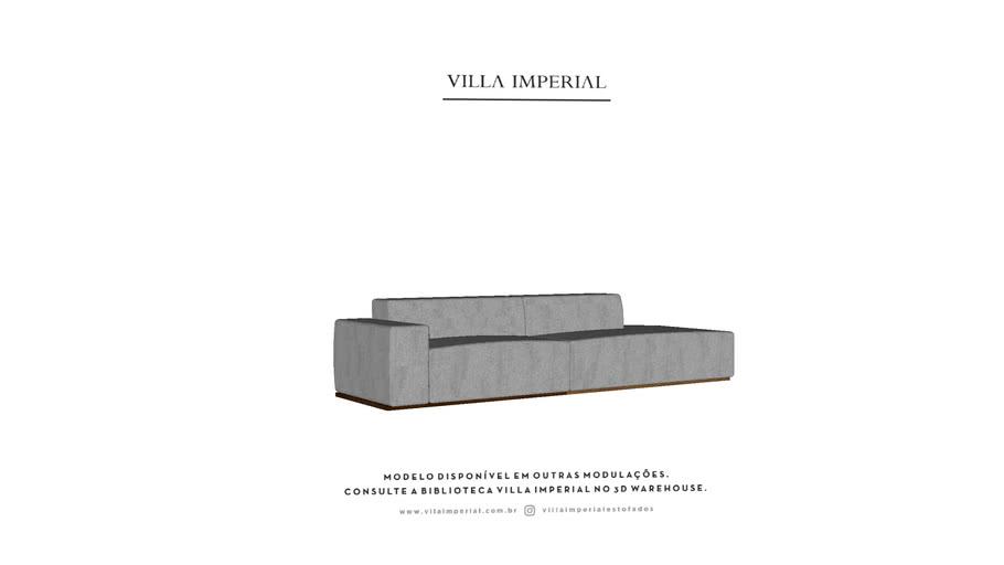 Sofá Varese - 2 Assentos com Puff - Villa Imperial