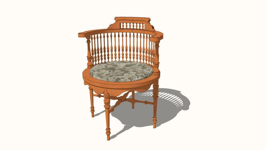 Round Antique Corner Chair