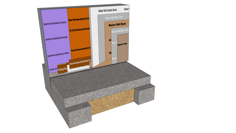 Rollershield Drainage CIFS™Detail at Supported Slab