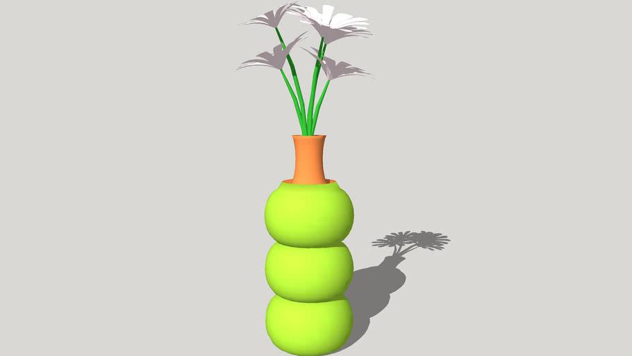 Triple o` Flower Vase