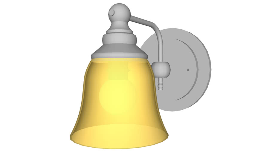 Bell Sconce Single - Detailed