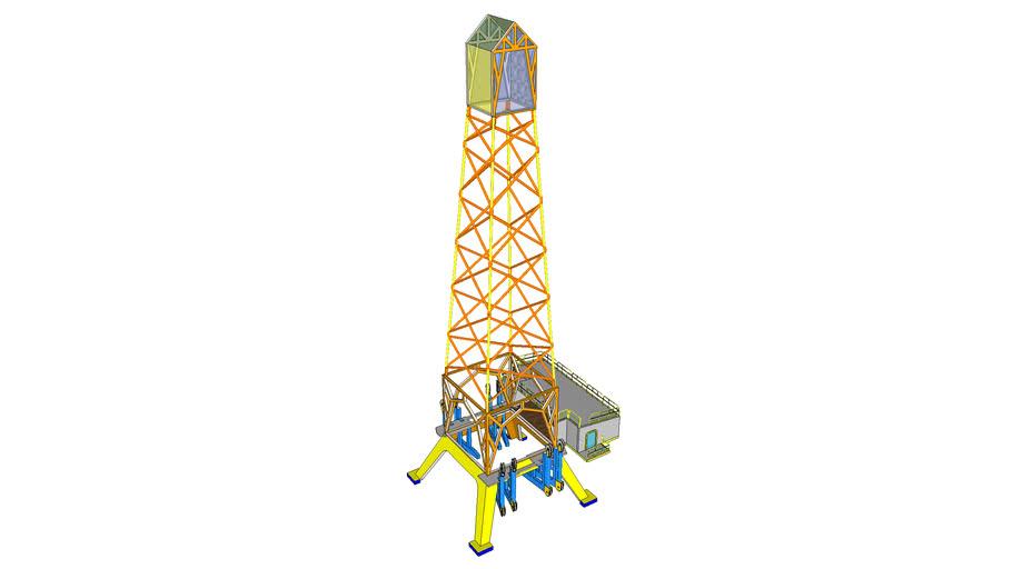 Torre de perfuração terrestre