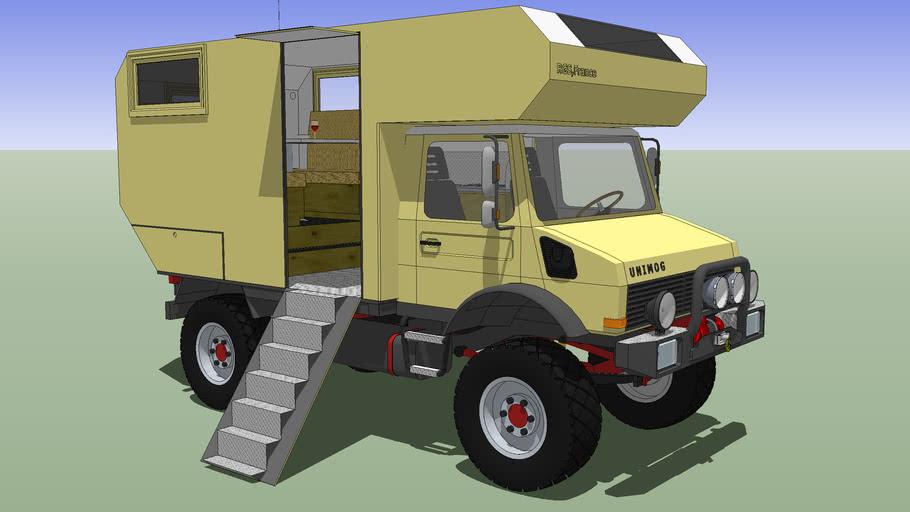 Camper Truck, Unimog III 4x4