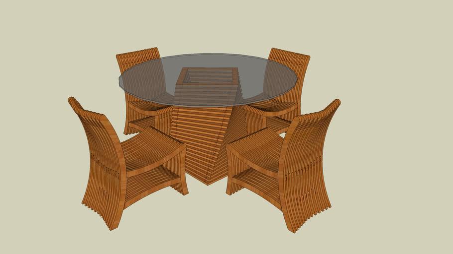 Cadeira e Mesa Leque