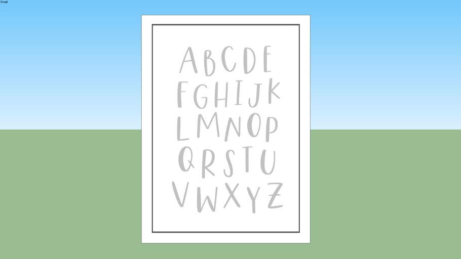 Alfabeto Kids - Cinza
