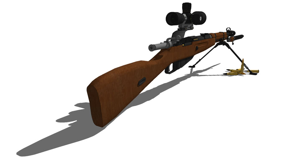 M38 Modernized Mosin Nagant Designated Marksman Rifle