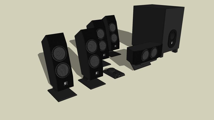 speaker logitech à effet surround 5.1