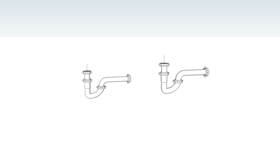 Bathroom Sink P Traps 3d Warehouse