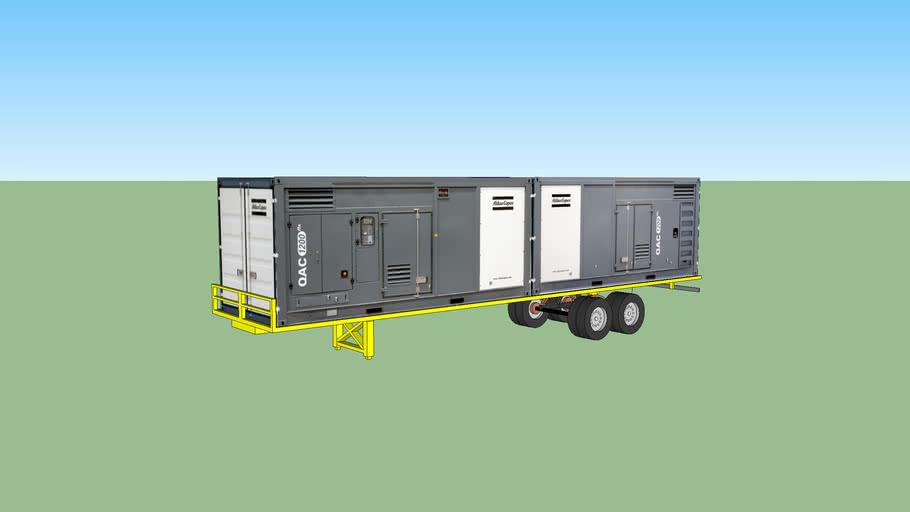 2 x QAC1200 flx on truck trailer AtlasCopco