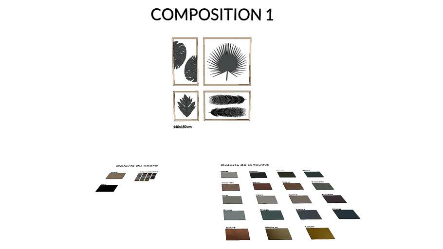 Herbier tropical - Composition 1 - Atelier Germain