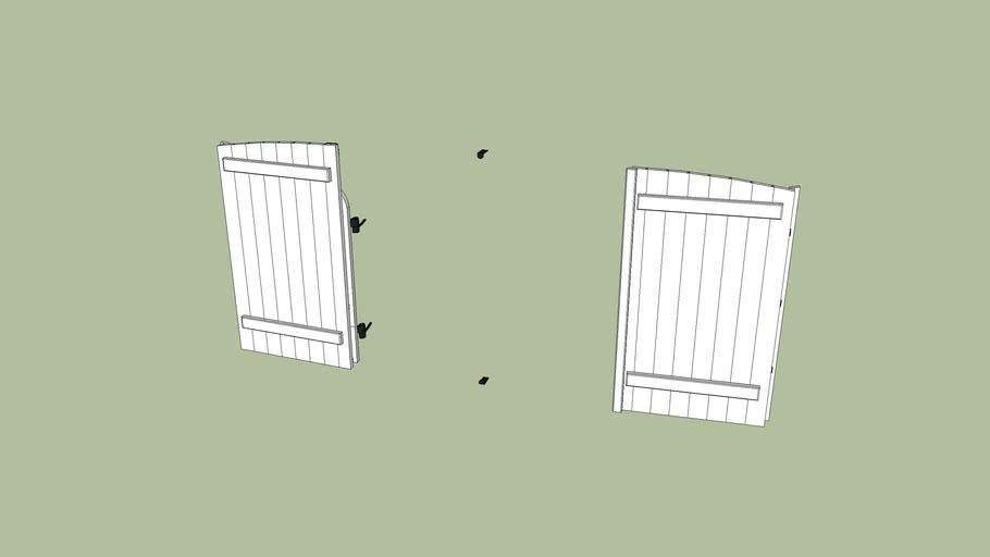 volets ouvert pour fenêtre villa
